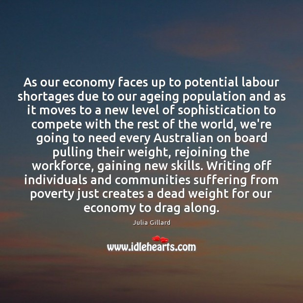 Image, As our economy faces up to potential labour shortages due to our