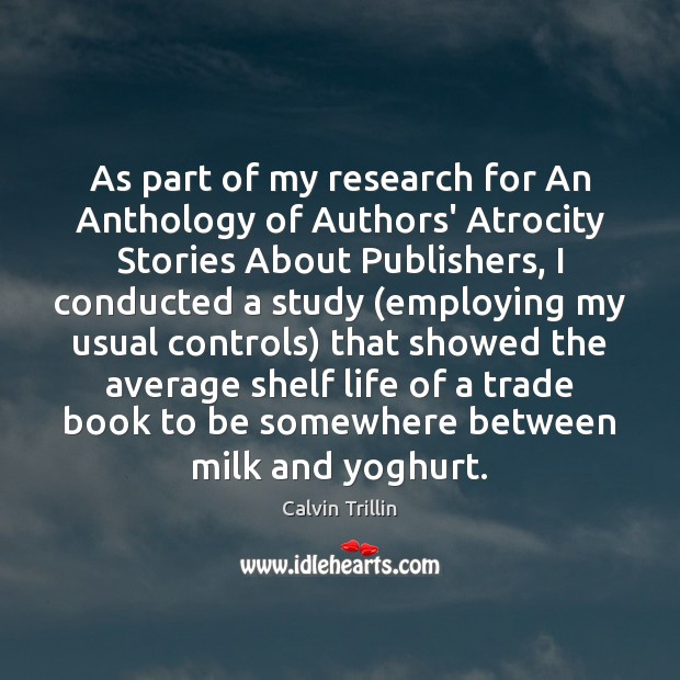 As part of my research for An Anthology of Authors' Atrocity Stories Image