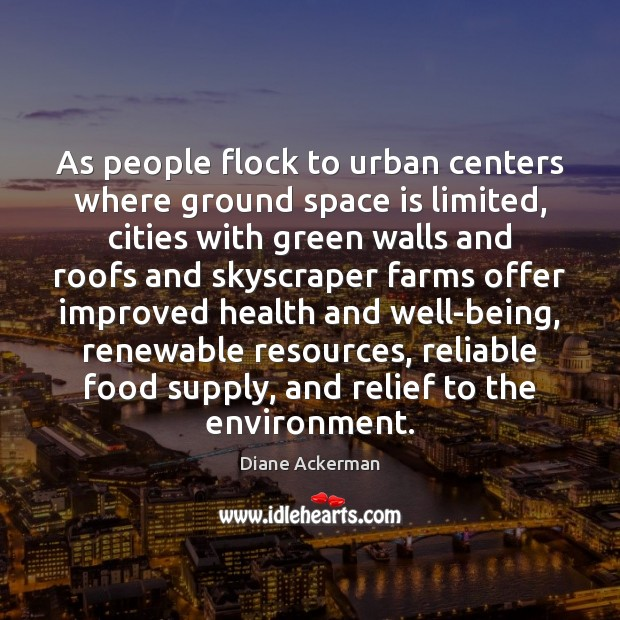 As people flock to urban centers where ground space is limited, cities Image