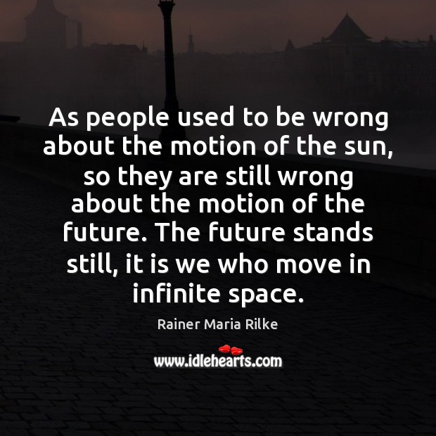 As people used to be wrong about the motion of the sun, Image