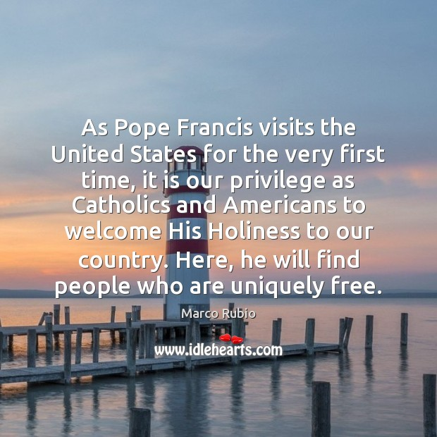 Image, As Pope Francis visits the United States for the very first time,