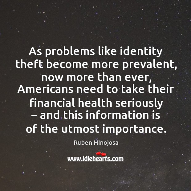 As problems like identity theft become more prevalent, now more than ever Image