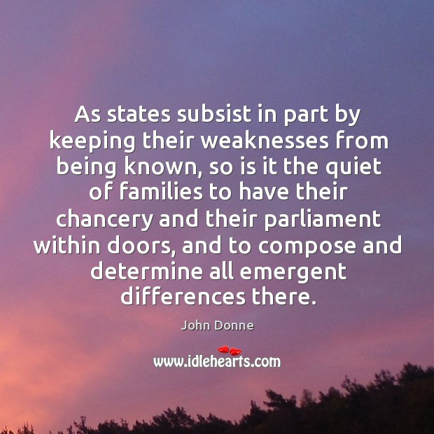 As states subsist in part by keeping their weaknesses from being known Image