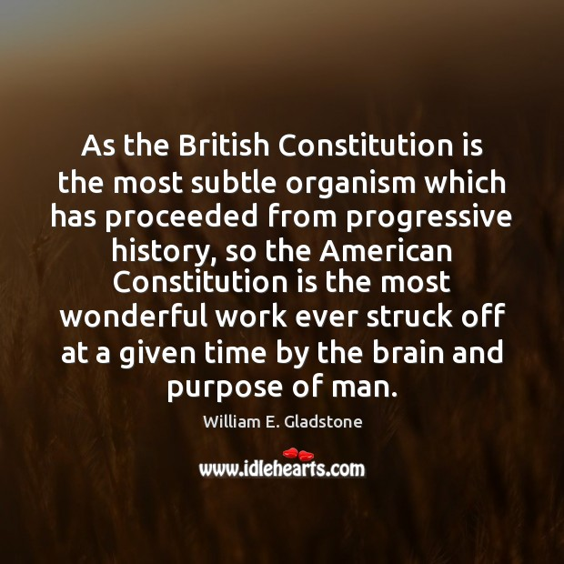 Image, As the British Constitution is the most subtle organism which has proceeded