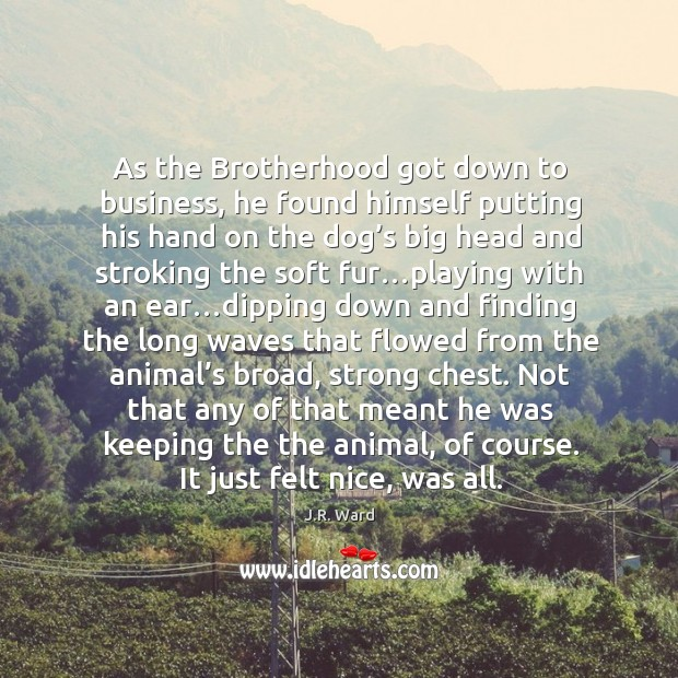 Image, As the Brotherhood got down to business, he found himself putting his