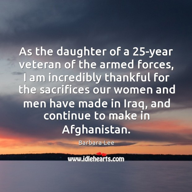 Image, As the daughter of a 25-year veteran of the armed forces, I