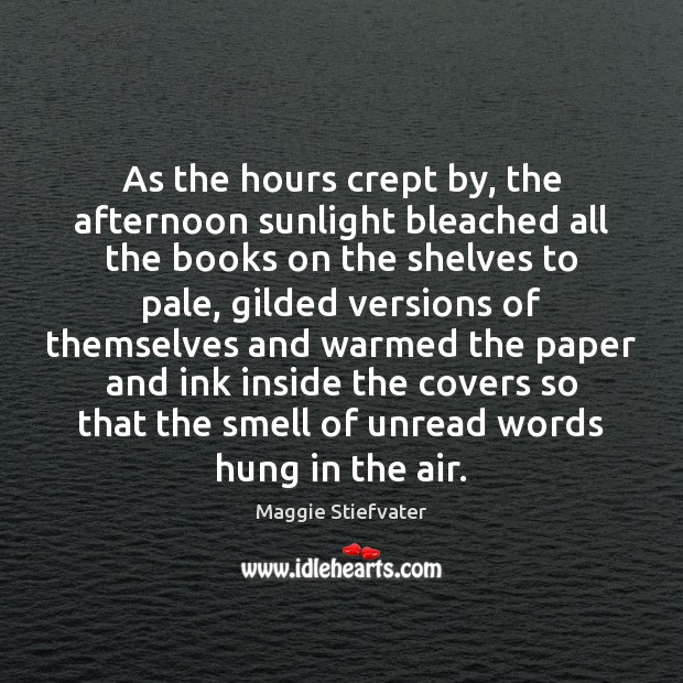 Image, As the hours crept by, the afternoon sunlight bleached all the books