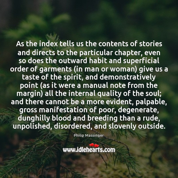 As the index tells us the contents of stories and directs to Image