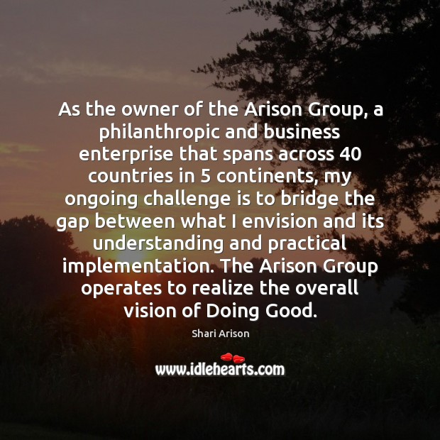 As the owner of the Arison Group, a philanthropic and business enterprise Image