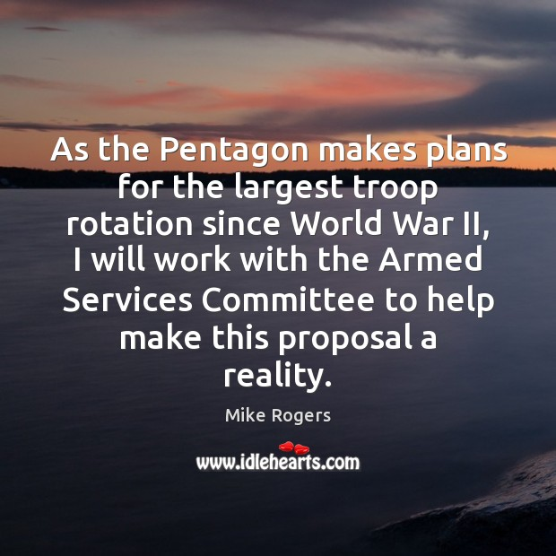 As the Pentagon makes plans for the largest troop rotation since World Image