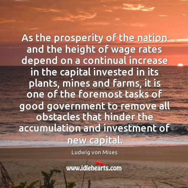 As the prosperity of the nation and the height of wage rates Image