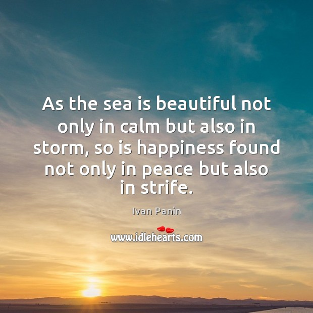 Image, As the sea is beautiful not only in calm but also in