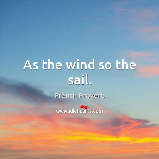 Image, As the wind so the sail.