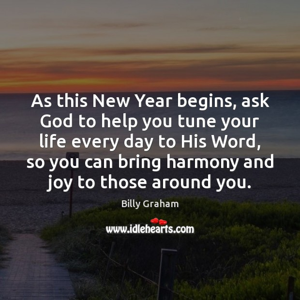 Image, As this New Year begins, ask God to help you tune your