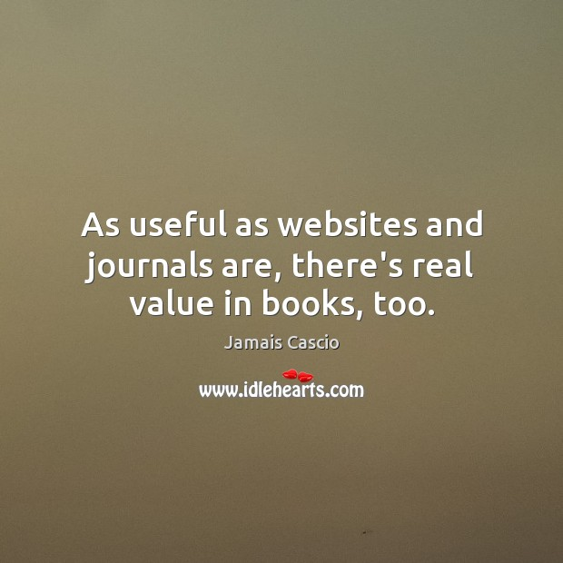 Image, As useful as websites and journals are, there's real value in books, too.