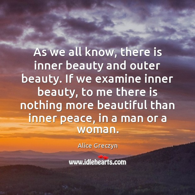Image, As we all know, there is inner beauty and outer beauty. If