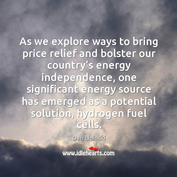 As we explore ways to bring price relief and bolster our country's energy independence Image