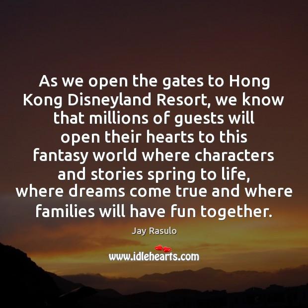 As we open the gates to Hong Kong Disneyland Resort, we know Image