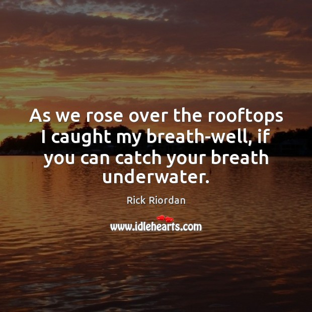 As we rose over the rooftops I caught my breath-well, if you Image