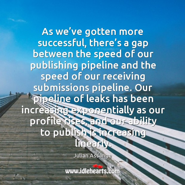 As we've gotten more successful, there's a gap between the speed of our publishing Image