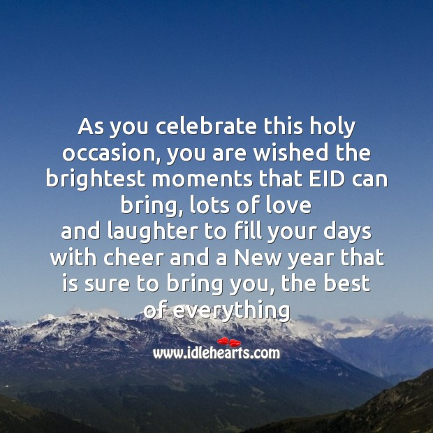 As you celebrate this holy occasion Eid Messages Image