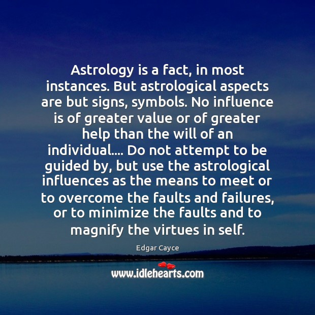 Astrology is a fact, in most instances. But astrological aspects are but Astrology Quotes Image
