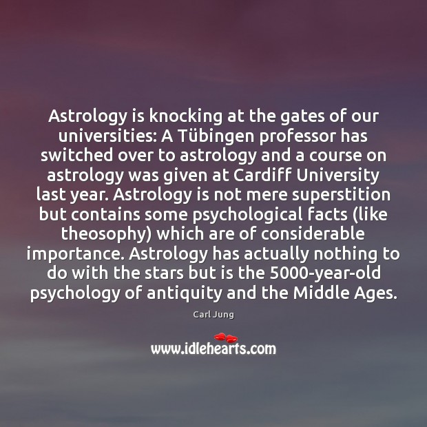 Astrology is knocking at the gates of our universities: A Tübingen Astrology Quotes Image