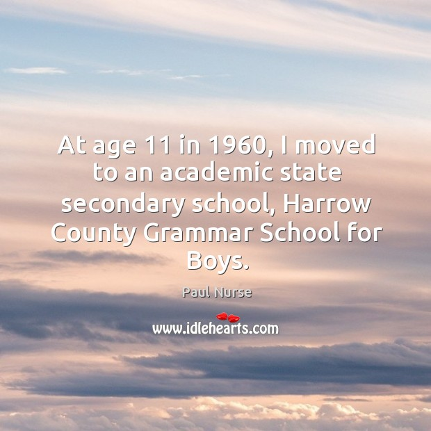At age 11 in 1960, I moved to an academic state secondary school, harrow county grammar school for boys. Image