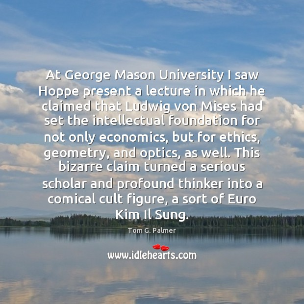 At George Mason University I saw Hoppe present a lecture in which Image