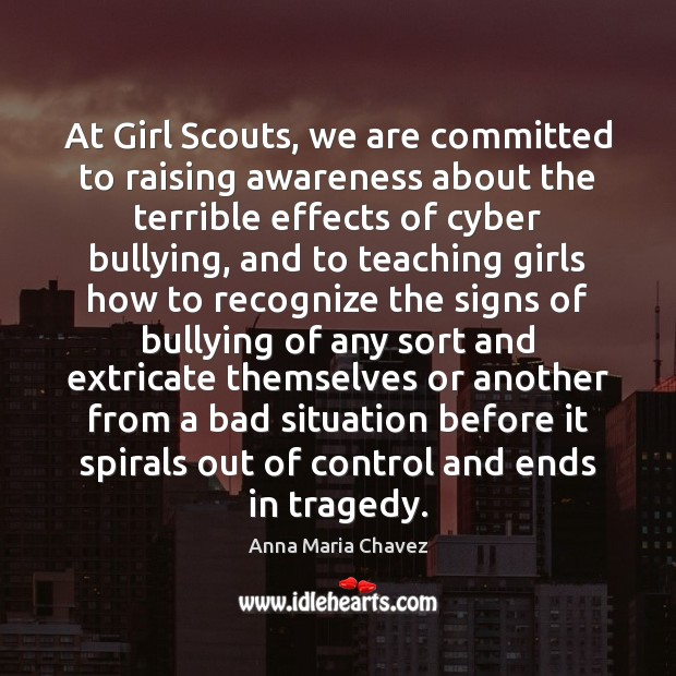 Image, At Girl Scouts, we are committed to raising awareness about the terrible
