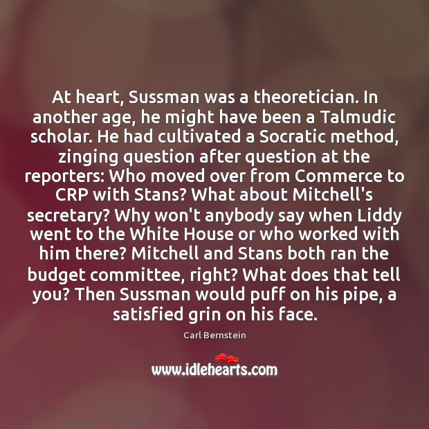 Image, At heart, Sussman was a theoretician. In another age, he might have