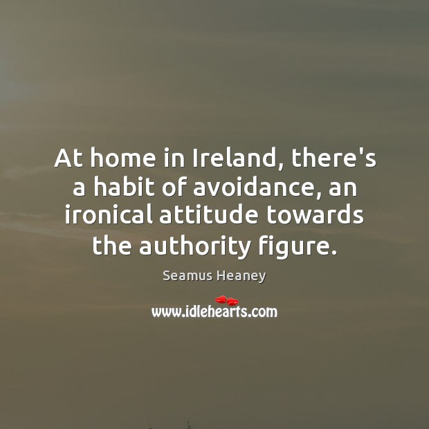 Image, At home in Ireland, there's a habit of avoidance, an ironical attitude