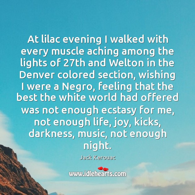 Image, At lilac evening I walked with every muscle aching among the lights