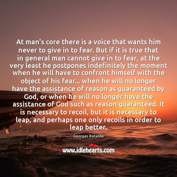 Image, At man's core there is a voice that wants him never to