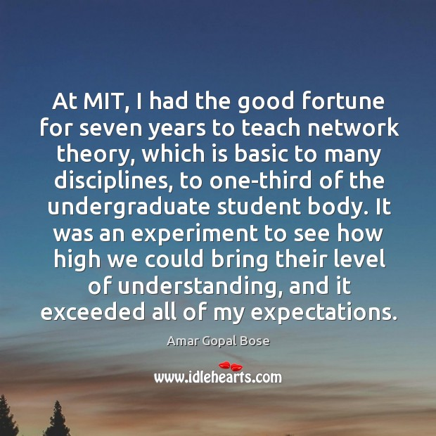 At mit, I had the good fortune for seven years to teach network theory Image