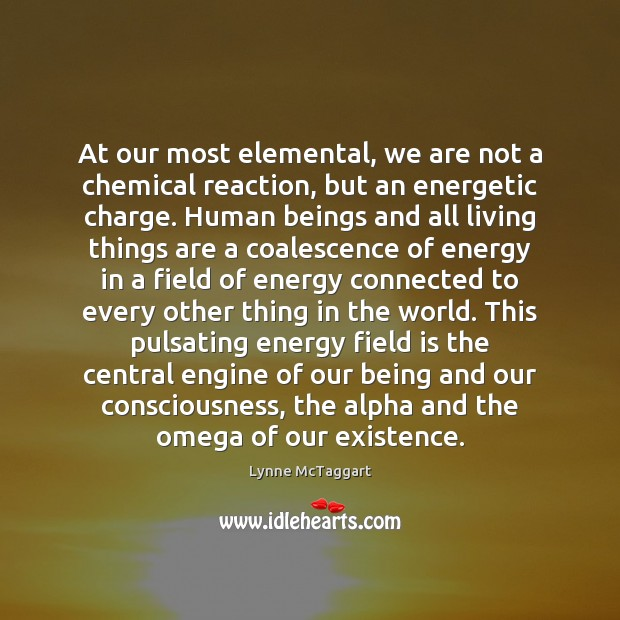 At our most elemental, we are not a chemical reaction, but an Image