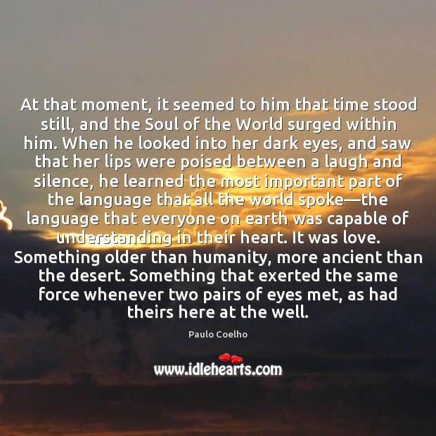 At that moment, it seemed to him that time stood still, and Image