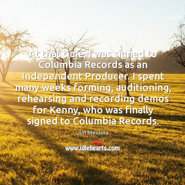At that time, I was signed to columbia records as an independent producer. Image