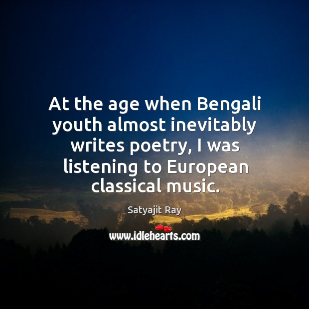 At the age when bengali youth almost inevitably writes poetry Image