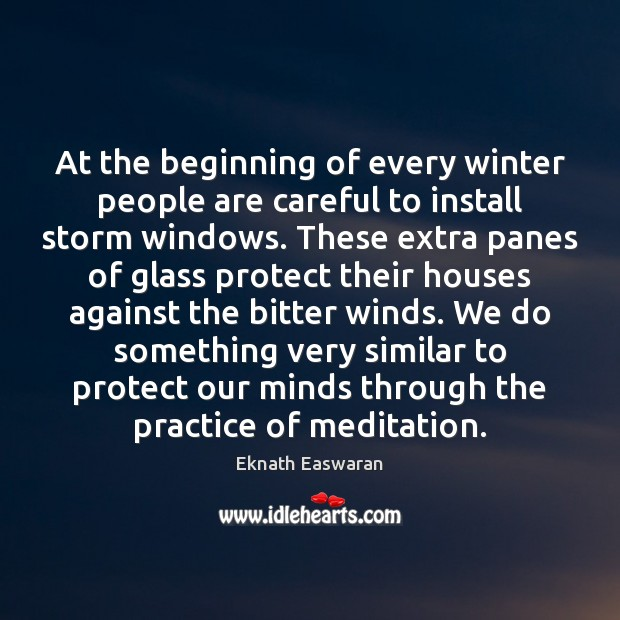 At the beginning of every winter people are careful to install storm Image