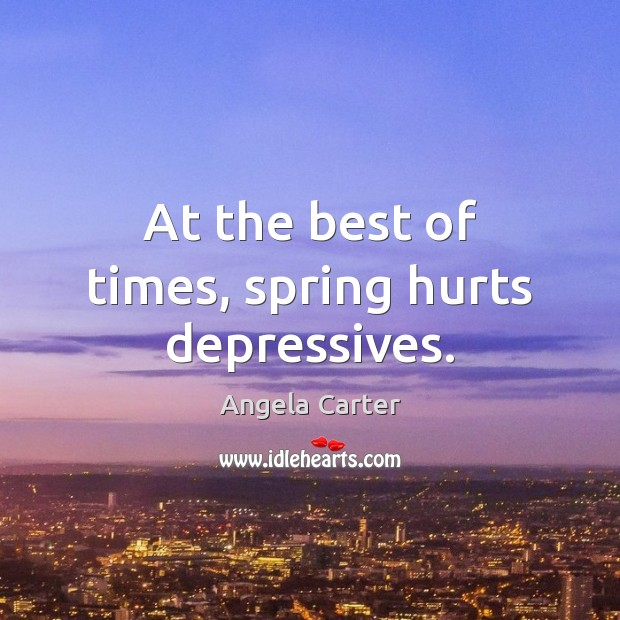 Image, At the best of times, spring hurts depressives.