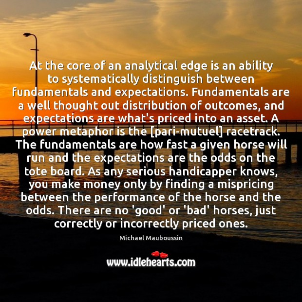 At the core of an analytical edge is an ability to systematically Image