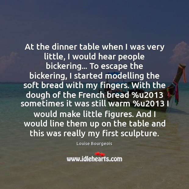 At the dinner table when I was very little, I would hear Image
