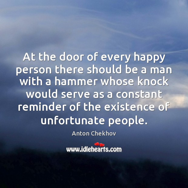At the door of every happy person there should be a man Image