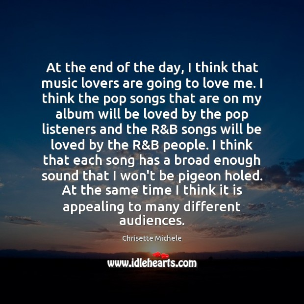 At the end of the day, I think that music lovers are Image