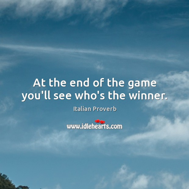 Image, At the end of the game you'll see who's the winner.