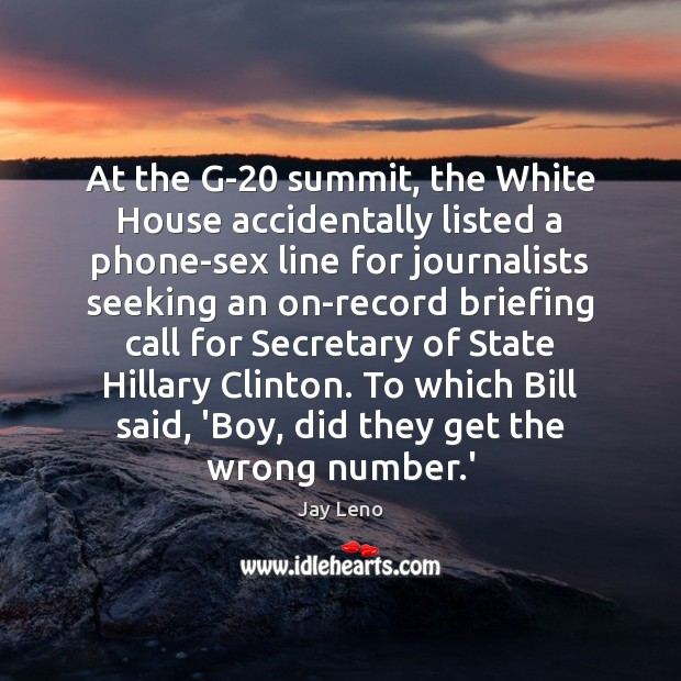 At the G-20 summit, the White House accidentally listed a phone-sex line Image