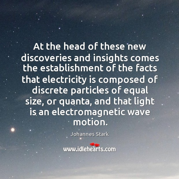 At the head of these new discoveries and insights comes the establishment of the facts that Image