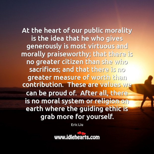 Image, At the heart of our public morality is the idea that he