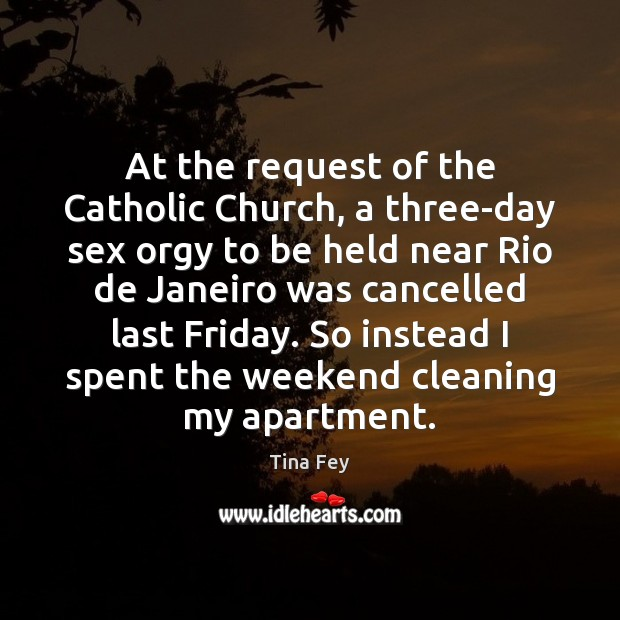 Image, At the request of the Catholic Church, a three-day sex orgy to